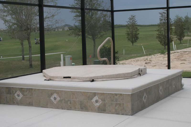Fiberglass spas t d pool spa constructiont d pool for Spa construction