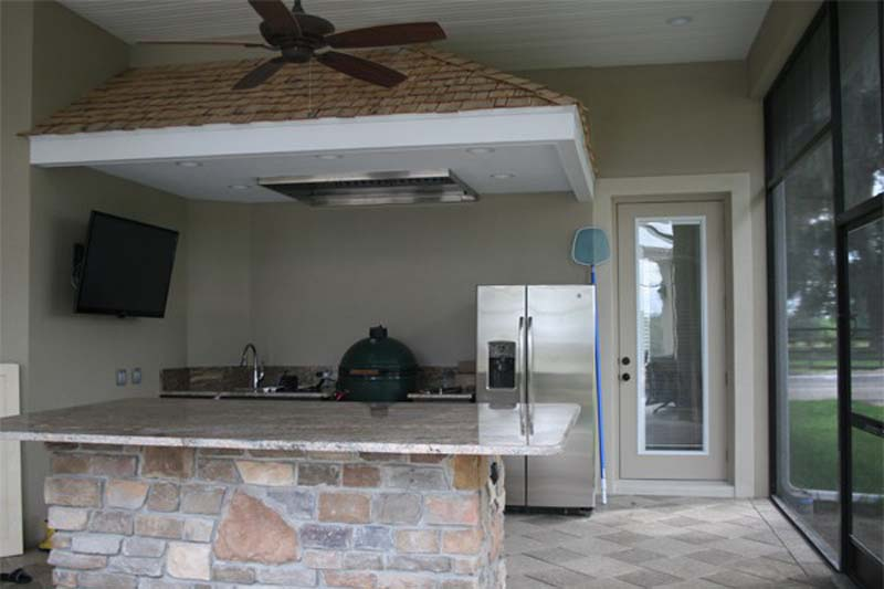 Summer kitchens t d pool spa constructiont d pool for Pool design hours
