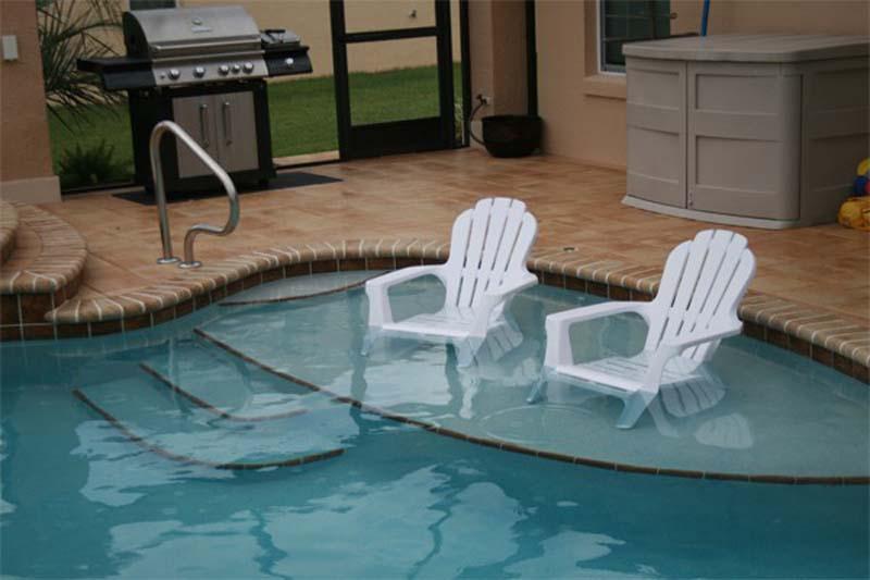 Beach Tanning Shelf - T&D Pool & Spa ConstructionT&D Pool ...