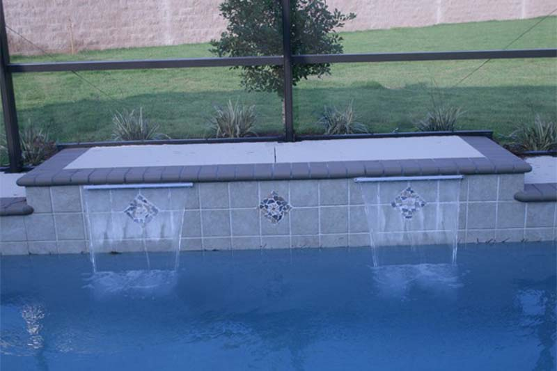 Rectangle Pool With Water Feature water features - t&d pool & spa constructiont&d pool & spa